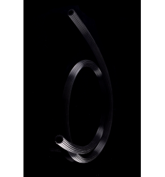 Hadica silikónová150cm čierna drážkovaná